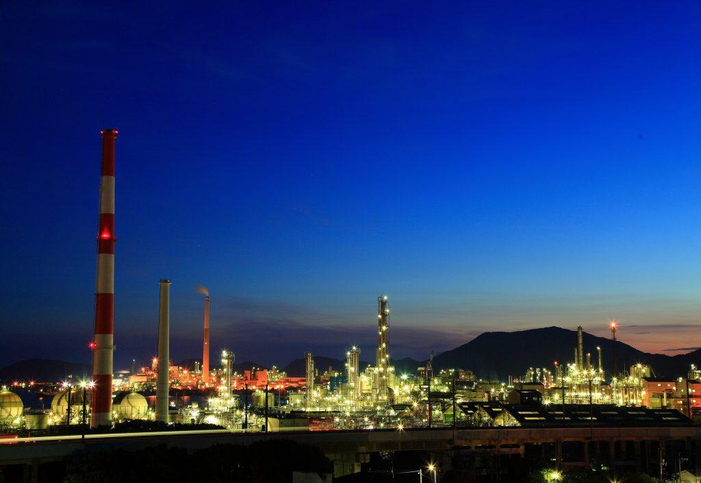 日本10大工場夜景にも選ばれた景色